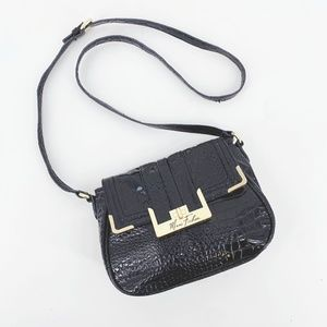 Marc Fisher Croc Embossed Faux Leather Crossbody